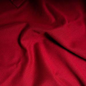 Polo piquet di cotone dettaglio tessuto
