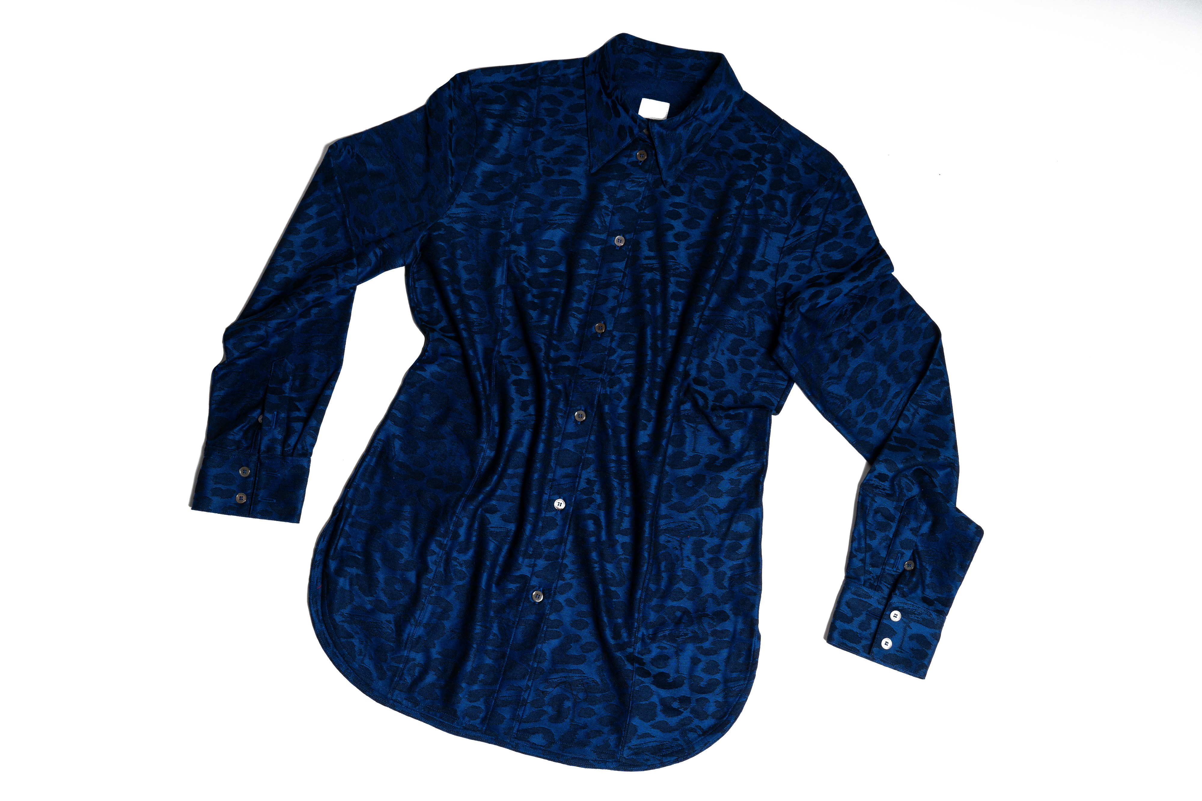 Camicia jacquard di cotone da donna