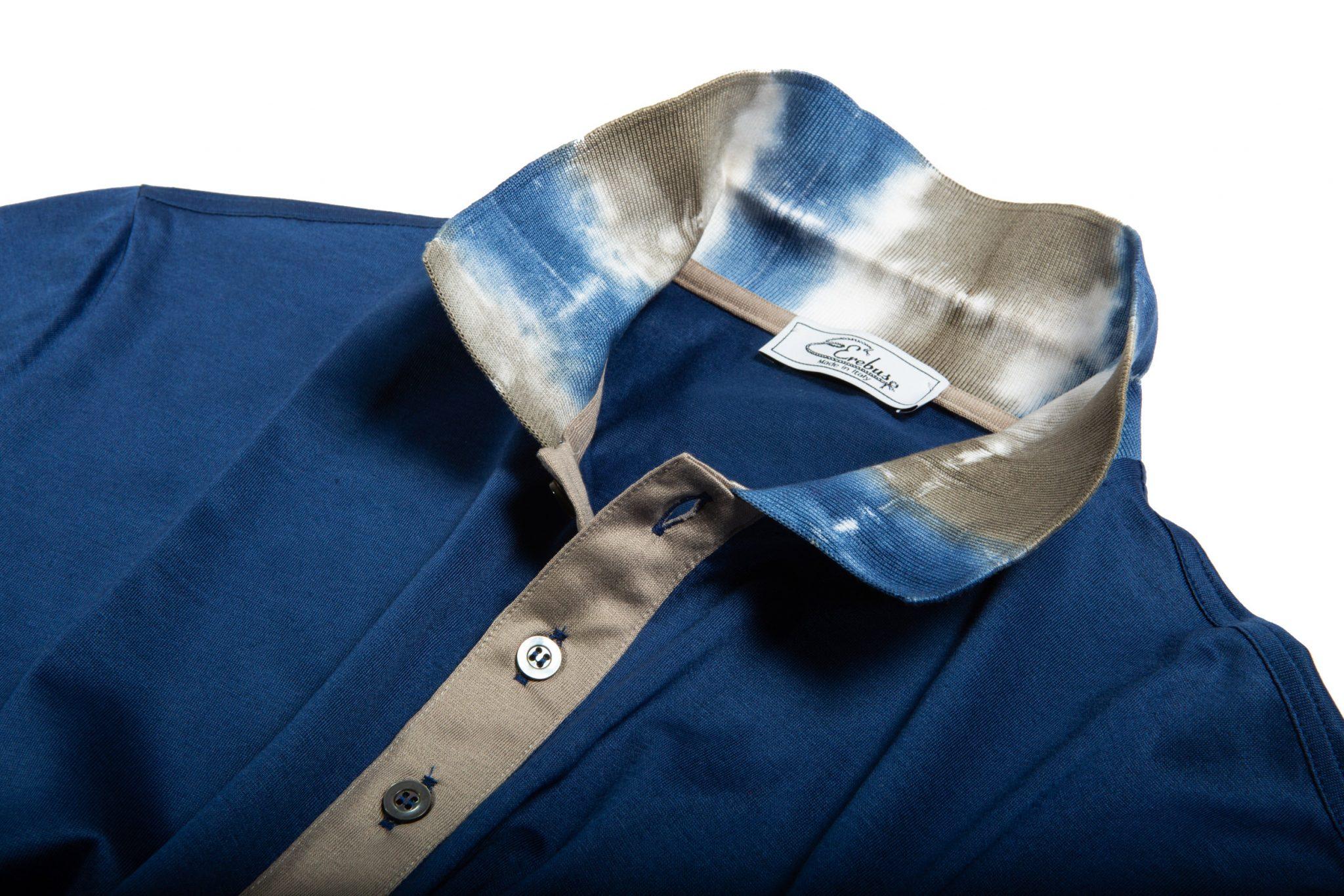 Dettaglio colletto Polo con collo stampato
